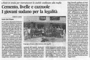 Articolo Corriere Adriatico Campo Isola
