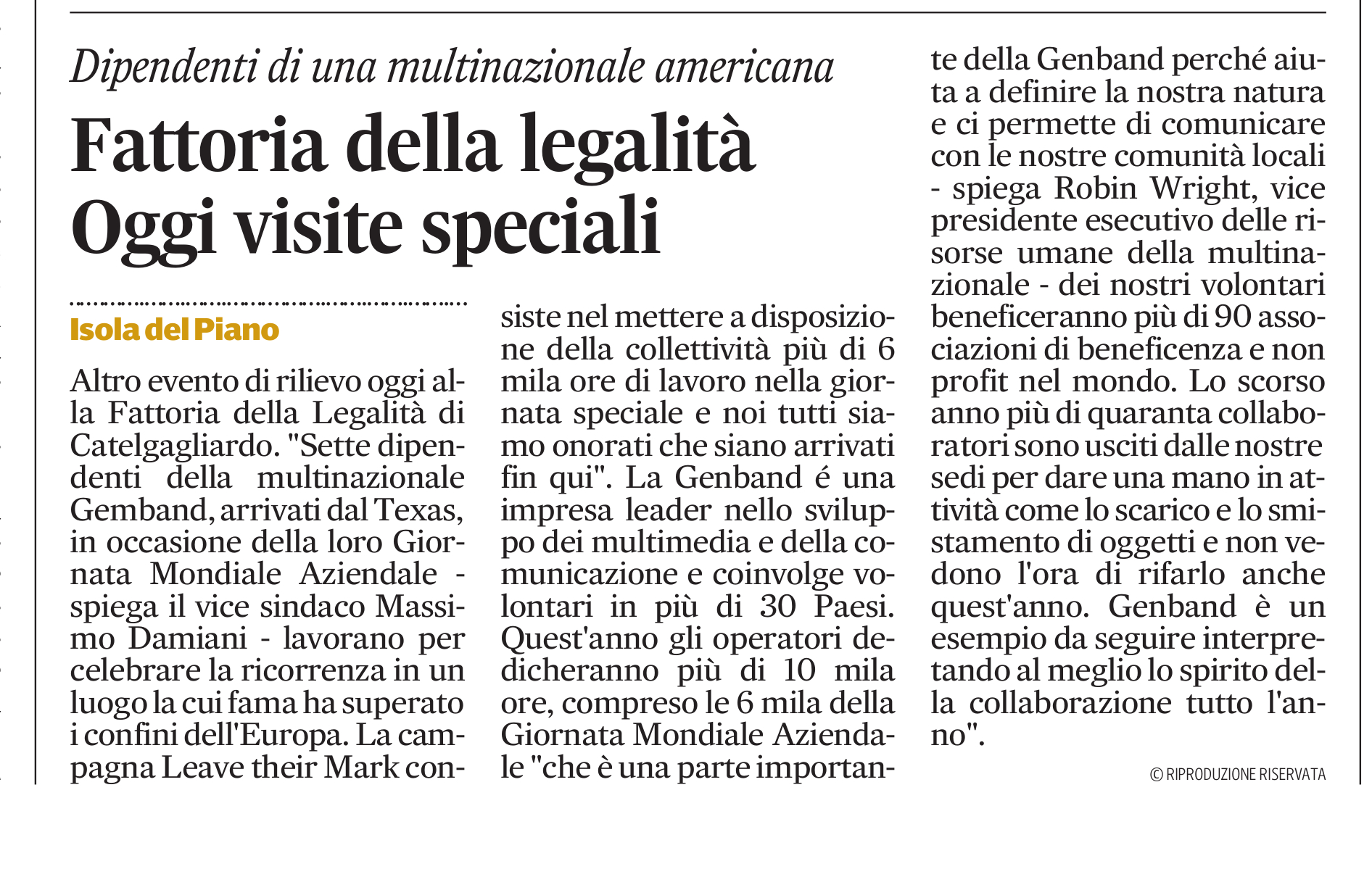 Genband Corriere Ad
