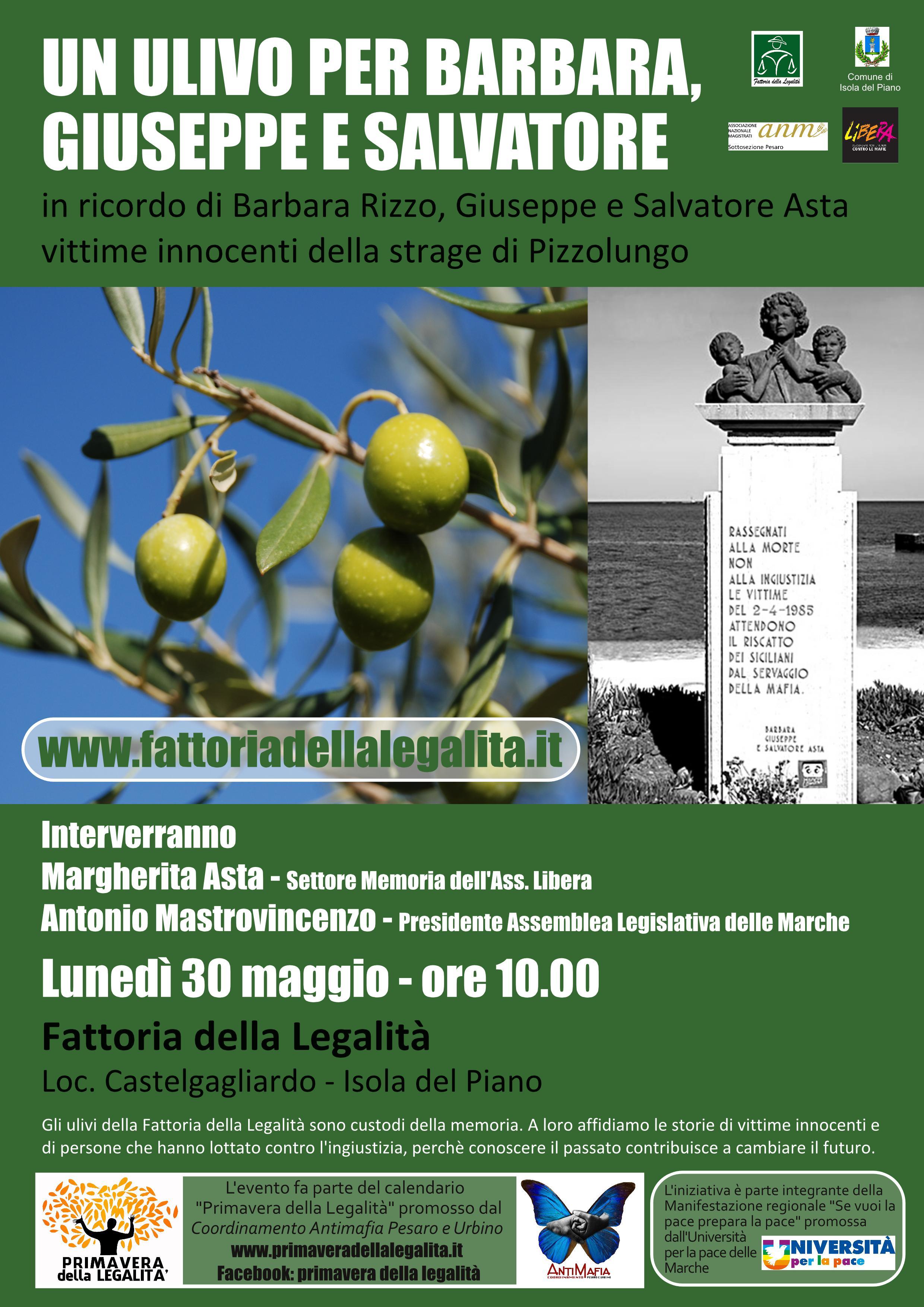 Un olivo per Barbara, Giuseppe e Salvatore